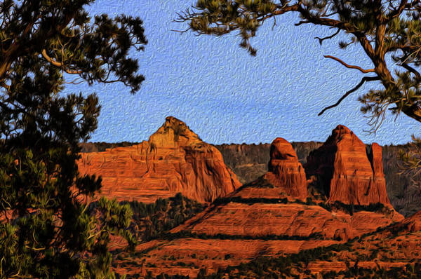 Photograph - Sedona Red Rocks Op22 by Mark Myhaver