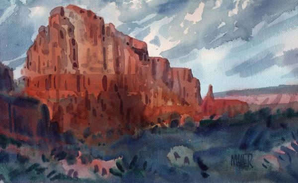 Sedona Painting - Sedona Redrock by Donald Maier