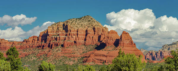 Wall Art - Photograph - Sedona, Rocks And Clouds by Bill Gallagher