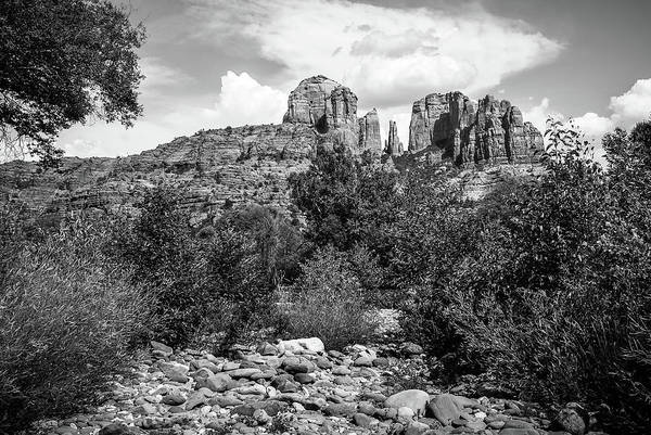 Photograph - Sedona's Red Rock Crossing In Black And White by Gregory Ballos