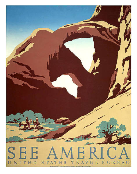 Wall Art - Painting - See America, National States Travel Bureau by Long Shot