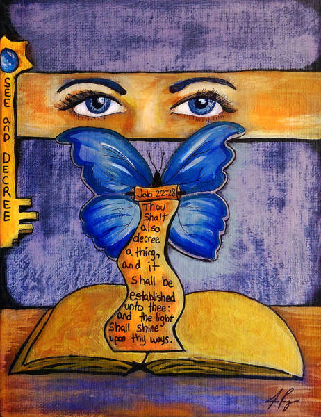 Painting - See And Decree by Jennifer Page