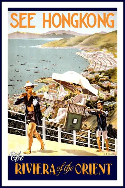 Chair Mixed Media - See Hongkong, China - The Riviera Of The Orient - Retro Travel Poster - Vintage Poster by Studio Grafiikka