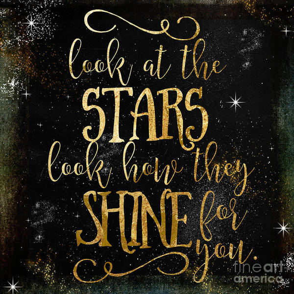 Gold Painting - See How The Stars Shine by Mindy Sommers