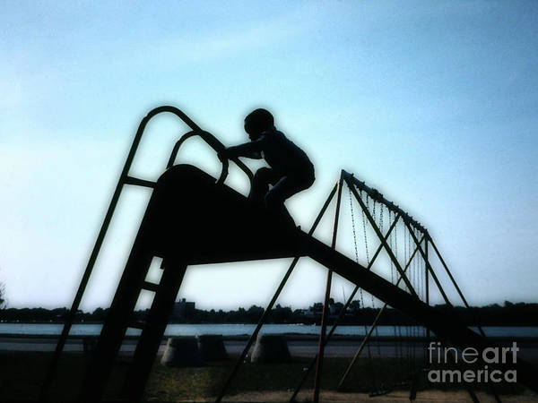 Photograph - Climbing Up The Slide by Walter Neal