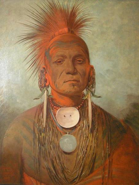 Indian Brave Digital Art - See No Ty A An Iowa Medicine Man by George Catlin