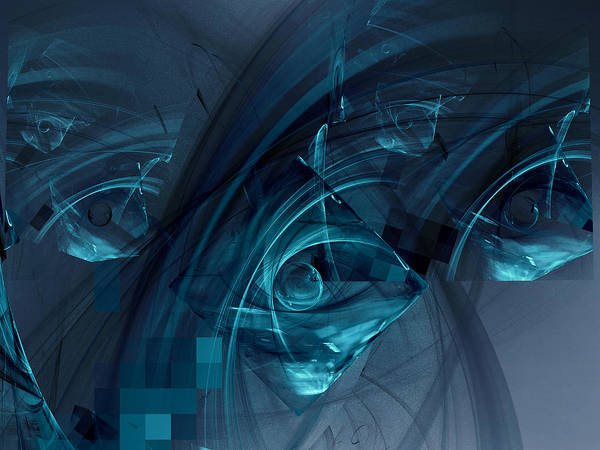 Digital Art - See Through Baby Blue by Jeff Iverson