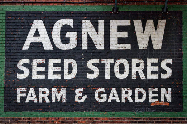 Photograph - Seed Store Sign by Stuart Litoff