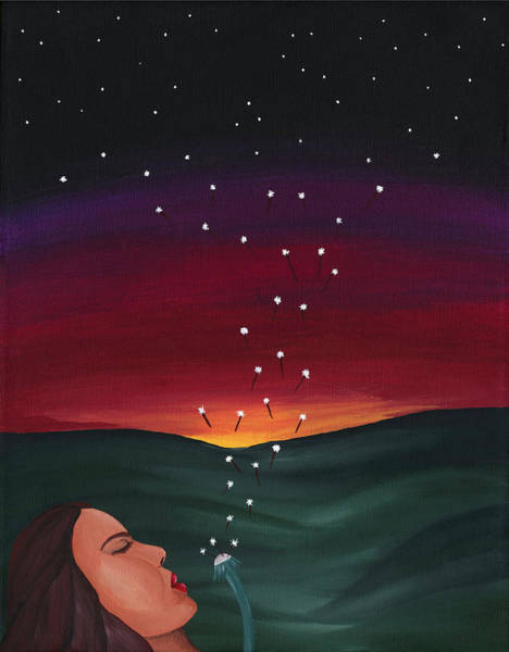 Star Formation Painting - Seeding The Sky by Lisa Orban