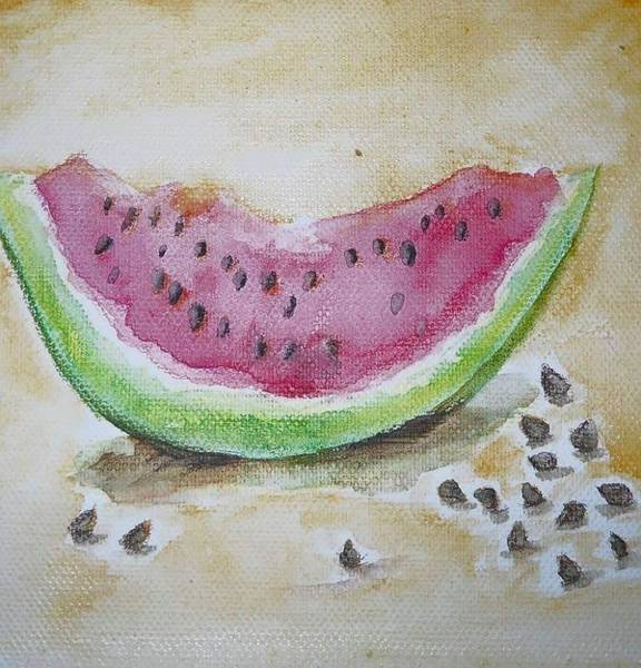 Water-melon Wall Art - Painting - Seeds by Anne Seay