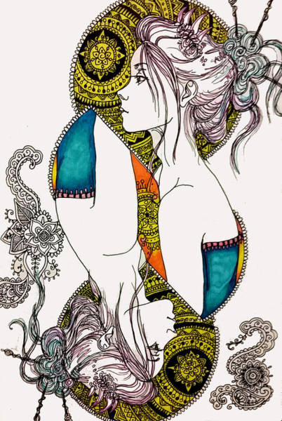 Boho Chic Drawing - Seeing Double by Brittany Sibert