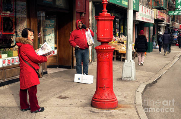 Photograph - Seeing Red In Chinatown by John Rizzuto