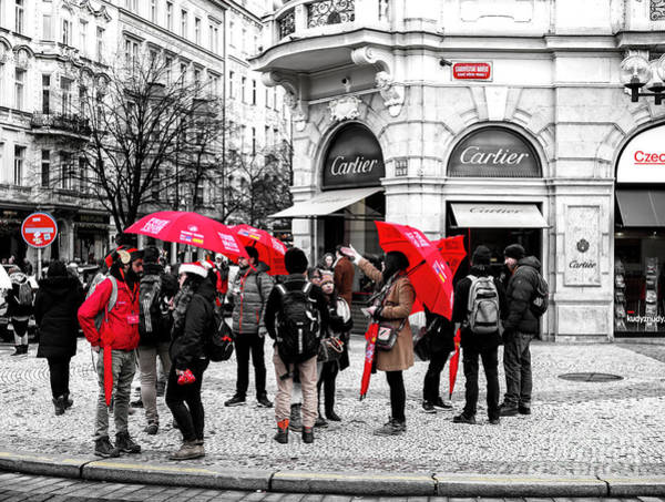 Photograph - Seeing Red In Prague by John Rizzuto
