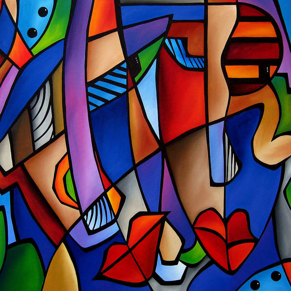 Art Deco Painting - Seeing Sounds - Abstract Pop Art By Fidostudio by Tom Fedro - Fidostudio