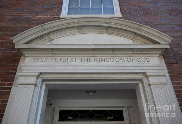 Photograph - Seek Ye First The Kingdom Of God by Dale Powell