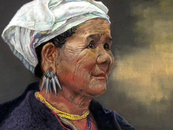 Tribal Woman Wall Art - Painting - Seeking Refuge by Amy Kranz