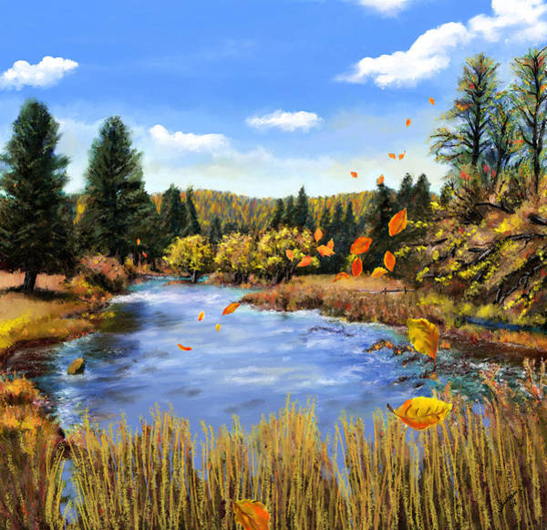 Painting - Seeley Montana Fall by Susan Kinney