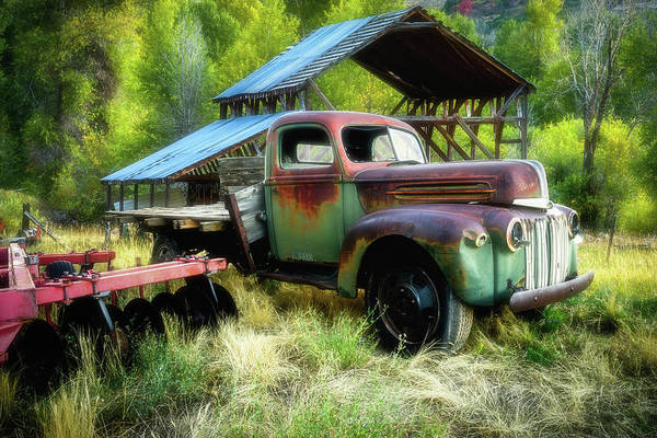 Photograph - Seen Better Days - Ford Farm Truck by TL Mair