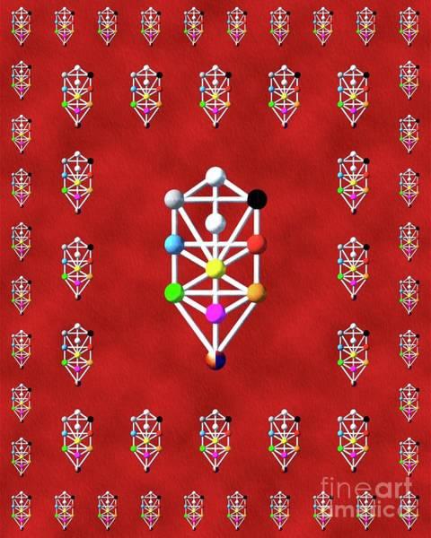Sefirot Of The Kabbalah Art Print