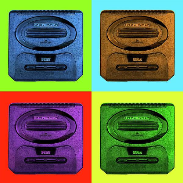 Digital Art - Sega Genesis by Robert Grubbs