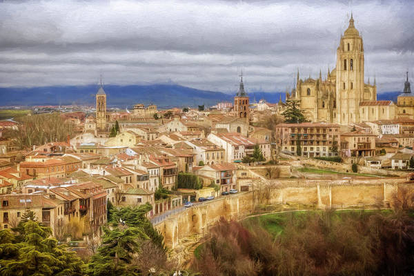 Photograph - Segovia Cathedral View by Joan Carroll