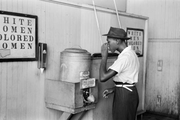 Civil War Photograph - Segregated Drinking Fountain 1939 - Civil Rights Photo  by War Is Hell Store