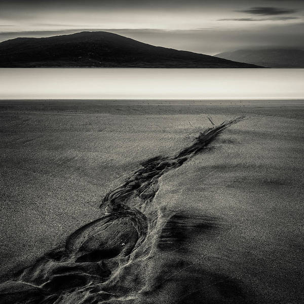Wall Art - Photograph - Seilebost Sand Tracks by Dave Bowman