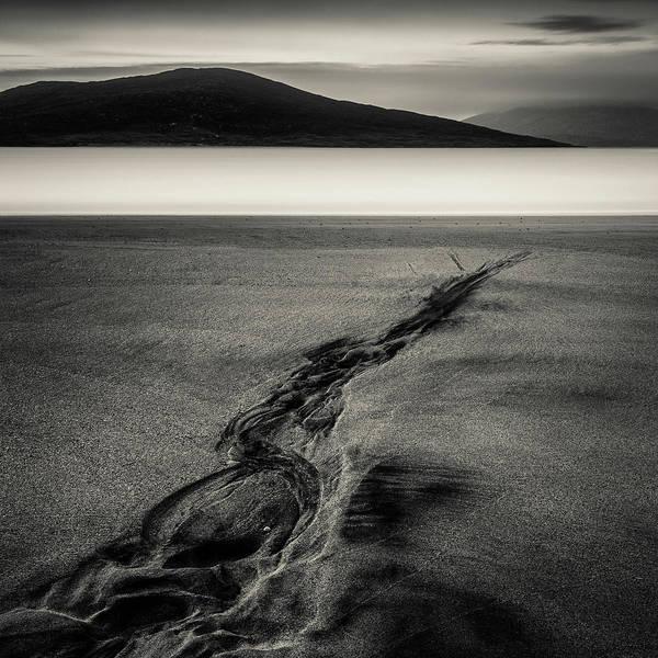 Photograph - Seilebost Sand Tracks by Dave Bowman
