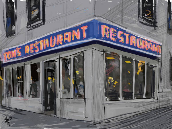 Reflections Mixed Media - Seinfeld Restaurant by Russell Pierce