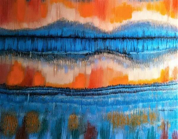Volcanoe Painting - Seismic by Laura Laughren