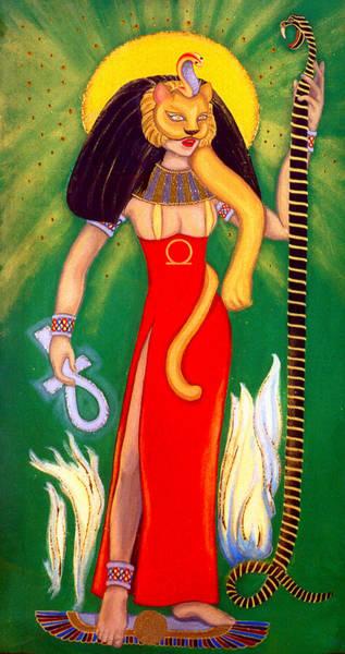 Initiation Painting - Sekhmet by Diveena Seshetta