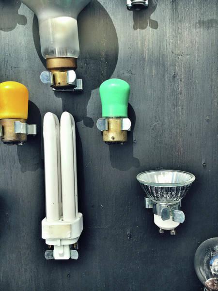 Energy-saving Wall Art - Photograph - Selection Fo Light Bulbs by Tom Gowanlock