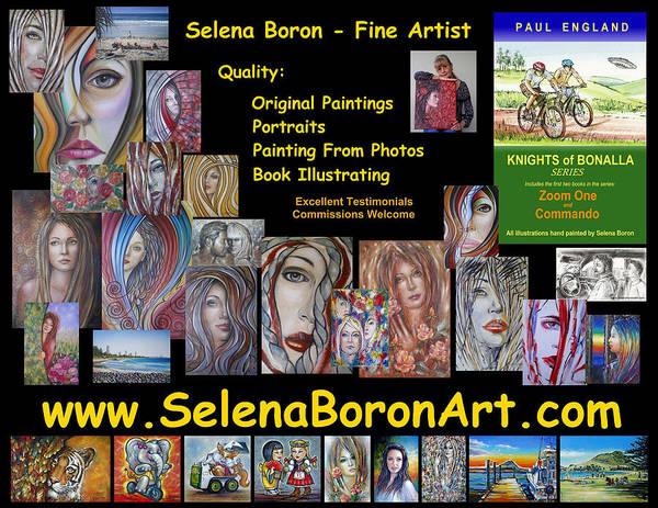 Selena Boron Photo Card 1 Art Print