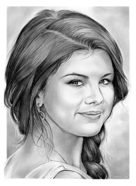 Actress Drawing - Selena Gomez by Greg Joens