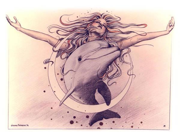 Drawing - Selene by Johanna Pieterman