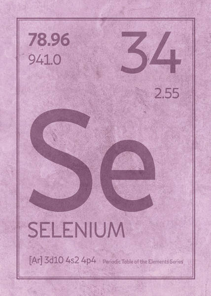 Atomic Number Wall Art - Mixed Media - Selenium Element Symbol Periodic Table Series 034 by Design Turnpike