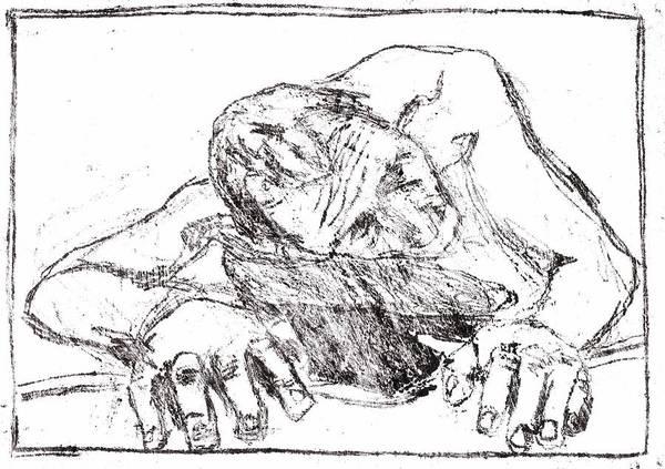 Drawing - Self Crawling by Artist Dot
