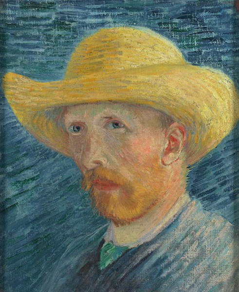 Selfportrait Painting - Self Portrait 1887 With Straw Hat 03 by Vincent Van Gogh