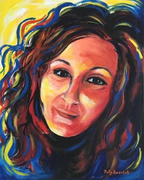 Wall Art - Painting - Self-portrait 2 by Judy Swerlick
