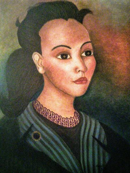 Pastel - Self-portrait by Alma Bella Solis
