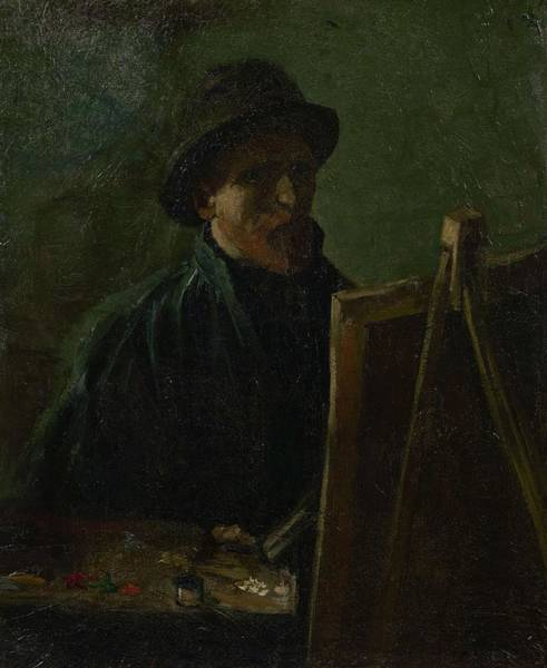 Painting - Self Portrait As A Painter Paris, September - November 1886 Vincent Van Gogh 1853  1890 by Artistic Panda