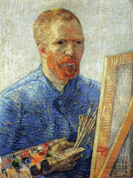 Painting - Self Portrait As An Artist by Van Gogh