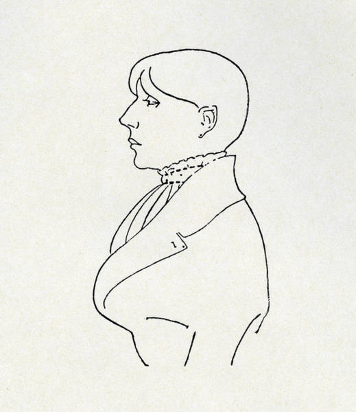 Beardsley Drawing - Self Portrait by Aubrey Beardsley