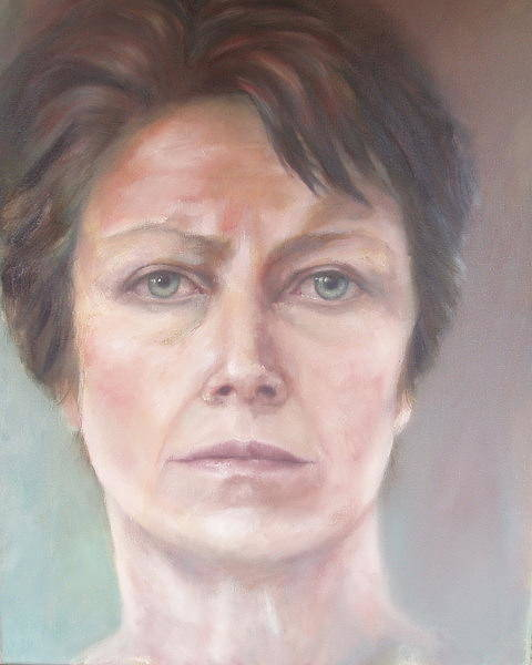 Painting - Self Portrait by Caroline Philp