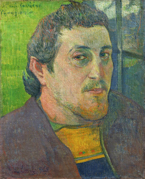 Wall Art - Painting - Self-portrait Dedicated To Carriere by Paul Gauguin