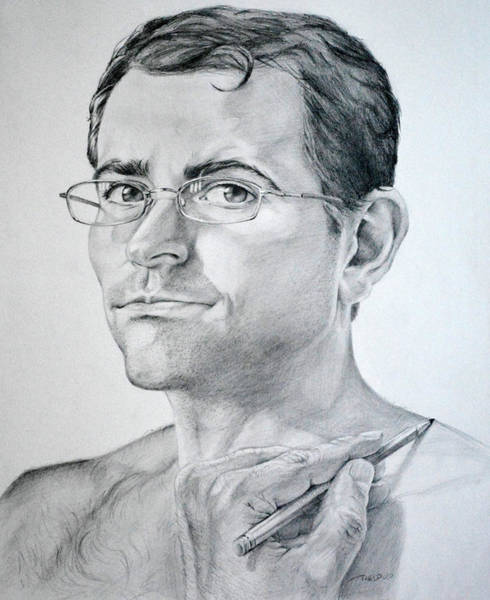 Drawing - Self Portrait Drawing by Christopher Reid