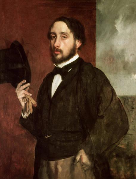 1834 Wall Art - Painting - Self Portrait by Edgar Degas