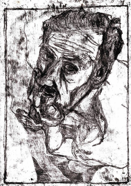 Drawing - Self-portrait by Artist Dot