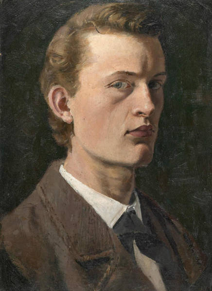 Norwegian Painting - Self-portrait by Edvard Munch