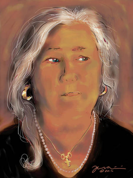 Painting - Self Portrait February Seventeen Twenty Twelve by Jean Pacheco Ravinski